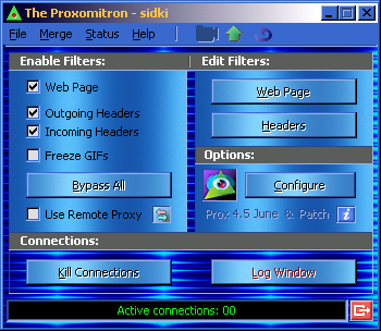 Alternate Proxomitron GUI